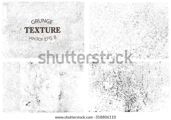 Set of grunge textures.Vector distress overlay textures.