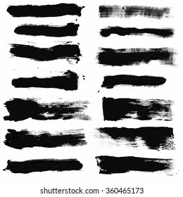 Set of Grunge Vector Brushes / Set of paint blobs. Isolated on white background. EPS 10