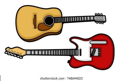 set of guitar