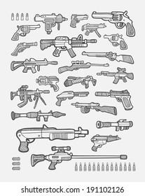 Gun Drawing Images Stock Photos Vectors Shutterstock
