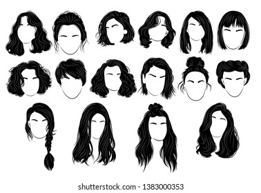 Short Girl Hair Stock Vectors Images Vector Art Shutterstock