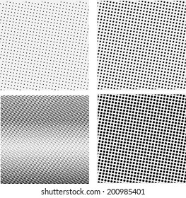 Set of halftone background. Vector illustration