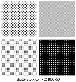 Set of halftone patterns
