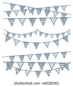 Set of hand bunting flag