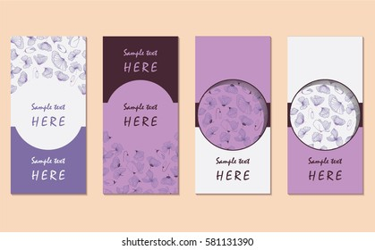 set hand drawn card templates ladybird stock vector royalty free