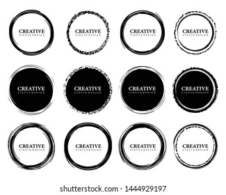 Set of Hand Drawn Circles, design elements vector template