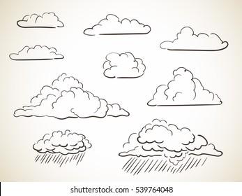 Cloud Drawing Images, Stock Photos & Vectors | Shutterstock