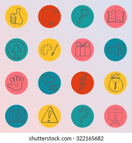 Set of hand drawn, doodle icons. Business, crowdfunding, investment, fundraising concept.