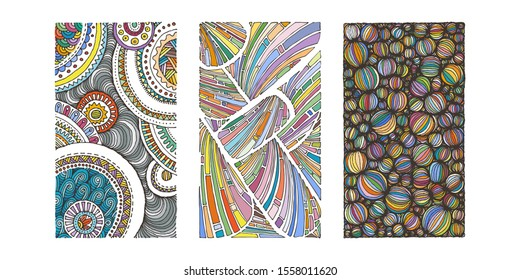Set of hand drawn grunge textures. Artistic colldection of rough graphic patterns, ethnic abstract lines, tribal ink symbols. Vector images