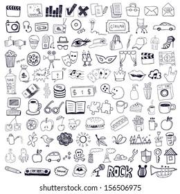 Set of hand drawn symbols