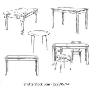 Ilustraciones, imágenes y vectores de stock sobre Mesa