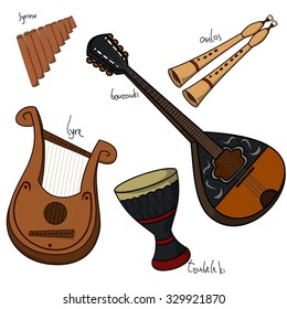 Bouzouki Musical Instrument Images, Stock Photos & Vectors