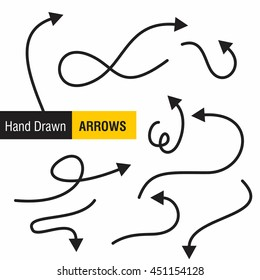 Set of hand made arrows