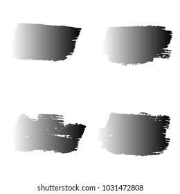Set of Hand Painted Black Brush Strokes. Vector Grunge Brushes. Vector Frame For Text Modern Art Graphics For Hipsters.  Dirty Artistic Creative Design Elements. Perfect For Logo, Banner.
