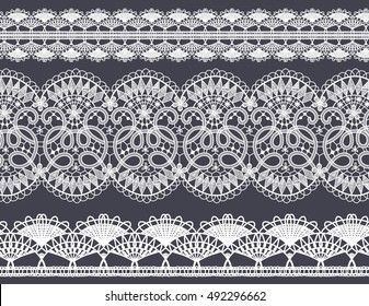 Set of hand-drawn Lace