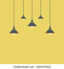 Set of hanging lamp vector illustration