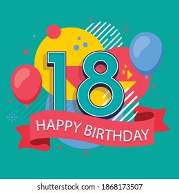 Set of happy cartoon people having fun at birthday party vector flat illustration. celebration of birthday 18 years and 25 years, 10 years old people, Concept of friends characters celebrating, vector