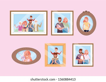 set happy family pictures memories