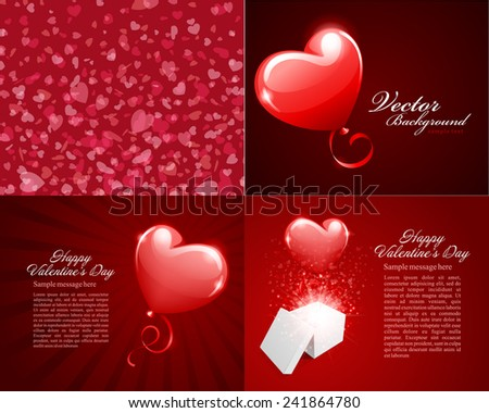 set happy valentines day greetings cards stock vector royalty free