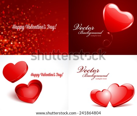 Set happy valentines day greetings cards stock vector royalty free set happy valentines day greetings cards vector background design valentines day wishes hearts m4hsunfo