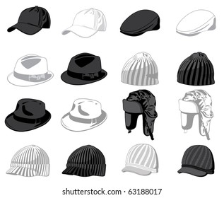 Set of the hats