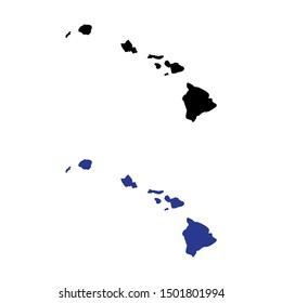 a set of Hawaii Islands  map icons