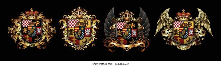 set-heraldic-shields-crown-wings-260nw-1982806532.jpg