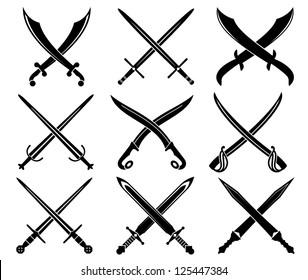 Set of heraldic swords and sabres for heraldry design, such as idea. Jpeg version also available in gallery