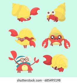 A set of hermit crab.