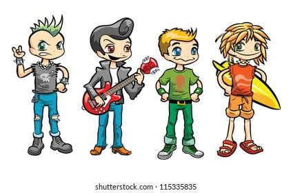 Set of High School Boys