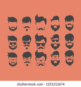 set of hipster logo collection