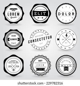 Set of hipster vintage retro labels