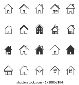 Set of home icon vector illustrator