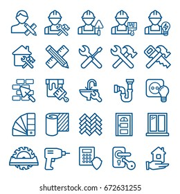 Set of home repair icons. Vector illustration