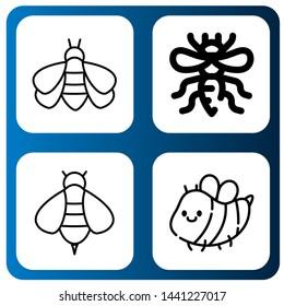 Set of honeybee icons such as Bumblebee, Bee , honeybee