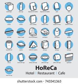 Set of HoReCa products