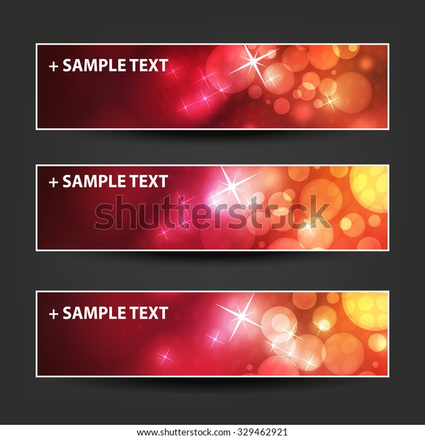 Set Horizontal Banner Cover Background Designs Stock Vector Royalty Free 329462921