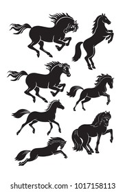 set of horse icons