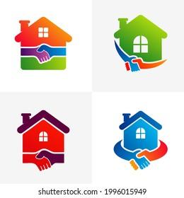 Set of House Deal logo vector template, Creative Deal logo design concepts