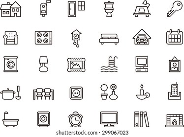 Set of HOUSE & HOME outlined icons
