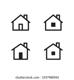 Set of house vector icons. Homes clipart symbols. Home pictogram collection.