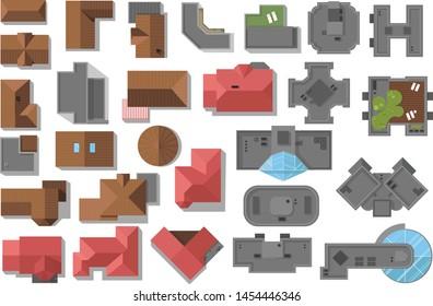 Roof Plan Images Stock Photos Vectors Shutterstock