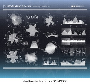set of HUD and infographic elements. futuristic user interface
