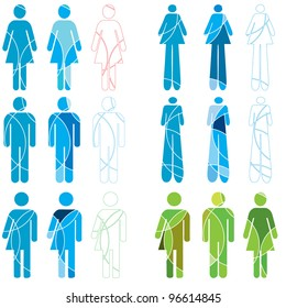 A set of human gender icons