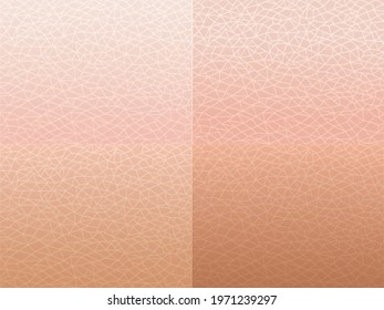 Set of human skin. Skin texture.