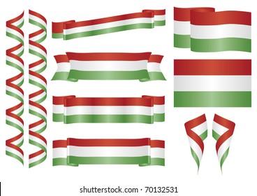 Set of hungarian vector ornaments. Decorative elements