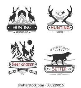 Set of hunting labels.