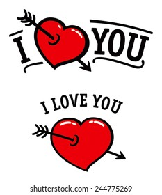 "Set of ""I love you"" simbols (vector)"