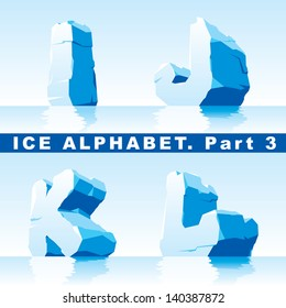 set of ice letters.  Part 3