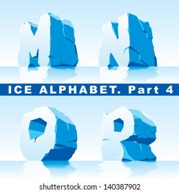 set of ice letters.  Part 4